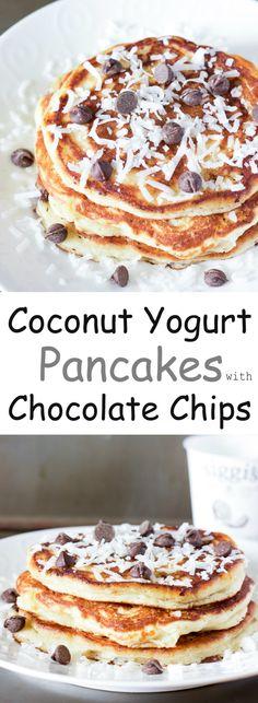 coconut yogurt pancakes