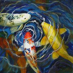 "Fish Soup by Pat Burns Acrylic ~ 12"" x 12"""