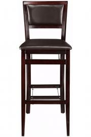 Faux-Leather Foldable Bar Stool