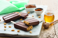 Kick your snacking up a notch! Inspired by the Mexican heat, these popsicles  or palatas  bring together the classic combination of peanut butter and chocolate, with a spicy kick to your palate. For the little ones, the amount of cayenne pepper can be reduced.