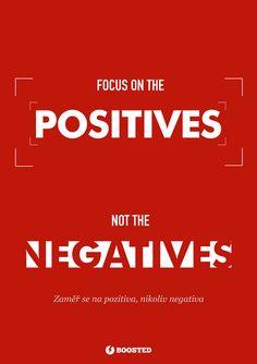 Motivační plakát Pozitiva (Anglicky/Česky)