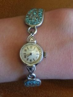 VINTAGE Longines Ladies Gold Filled Wrist Watch Navajo Turquoise Silver Band Bought on ebay for $10. Sold ebay with better photos $36 Total now $7,924