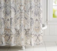 Find shower curtains, curtain hooks and accessories for an easy bathroom update. Pottery Barn's fabric shower curtains feature cotton and compliment any space. Vinyl Shower Curtains, Shower Curtain Rings, Bathroom Curtains, Plywood Furniture, Eames, Beige Wall Colors, Budget Bathroom Remodel, Bathroom Renovations, Curtains With Rings