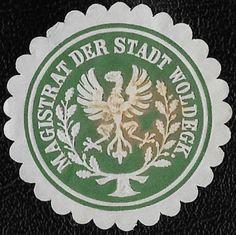 + 1871 Mayor of Woldegk Mecklenburg German States Arms Embossed Envelope Seal