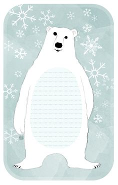 Polar Bear Notebook  Free Download (PDF) at:  http://media.miramoln.se/2012/02/miramoln.se_notes_polarbear.pdf