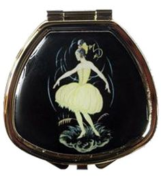 Andrea Garland - Vintage Inspired Pill Box - Ballerina - filled with organic lip balm.
