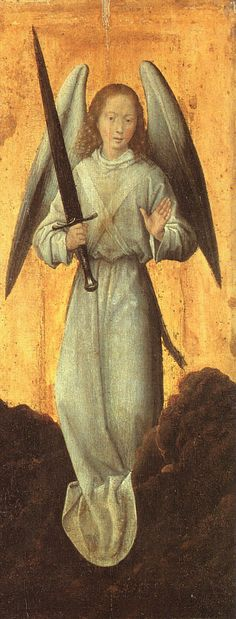 Hans Memling ca. 1433 – 1494 Archangel Michael 1480 Wallace Collection, London Hans Memling biography This work is linked to Revelation Renaissance Paintings, Renaissance Art, Hans Memling, Art Beauté, Angel Drawing, I Believe In Angels, Angels Among Us, Mont Saint Michel, Archangel Michael