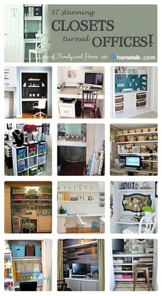 Check out these small closets that got turned into home offices!!