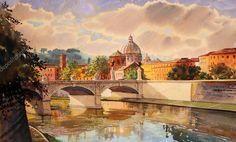 Картинки по запросу акварель Генуя