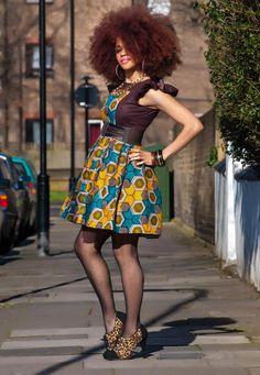 Shemesh-Skater-Dress ~Latest African Fashion, African Prints, African fashion styles, African clothing, Nigerian style, Ghanaian fashion, African women dresses, African Bags, African shoes, Nigerian fashion, Ankara, Kitenge, Aso okè, Kenté, brocade. ~DKK