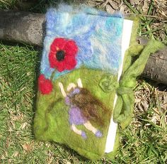 Needle felted wool journal cover diary book cover poppies 4 | Flickr - Photo Sharing! Хочу такую обложку для блокнота)))