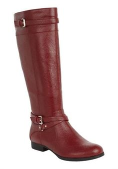 Janis Leather Wide Calf Boot by Comfortview®