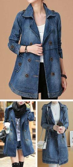 jacket, denim coat, denim jacket, cute jacket, jean jacket, fall jacket, denim jacket, jacket for women, jean, denim top, modest jacket, rosewe jacket, free shipping worldwide & high quality.