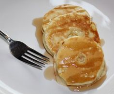 Fried Apple Pancakes! Cored and sliced apples dipped into pancake batter and fried to perfection :) mmmm