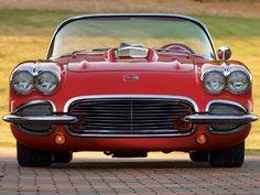 1962 Chevy Corvette rood/wit voorzijde