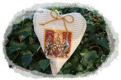 WeihnachtHerz *Heilig Abend*   VintageStyle Shabby von Antjes Design auf DaWanda.comDas nostalgisches Mittel-Motiv, Heilig Abend - die Bescherung, lässt den Erinnerung an längst vergangene Zeiten wieder aufleben.