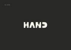 """Outro logo do Lucas Gil-Turner traduzindo a palavra """"mãos"""" de maneira literal mas bem inteligente utilizando os espaços em negativo!  #Logo #Logotipo #Inspiracao #Minimalista #Branding #Criatividade #TudoMKT #TudoMarketing"""
