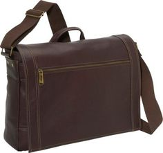 eBags Tribeca Colombian Leather Zip-Flap Laptop Messenger Brown - via eBags.com!