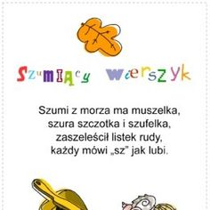 Logopedyczne gry, ćwiczenia z języka, karty do wydrukowania. - Printoteka.pl Child Development Psychology, Polish Language, Diy For Kids, Kids Learning, Hand Lettering, Activities For Kids, Therapy, Teaching, Humor