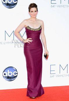 Tina Fey wears Vivienne Westwood to the 2012 Emmy Awards.