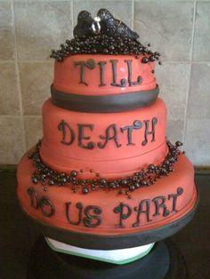 Halloween cake for wedding reception