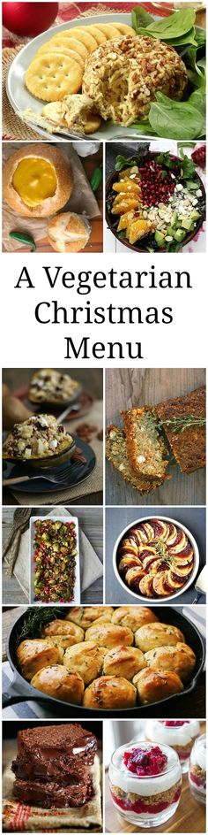 "Don't rely on just the ""sides"" to round out the menu for your vegetarian guests. Check out our pics for the best Vegetarian Christmas Menu."