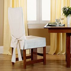 Sure Fit Cotton Duck Shorty Dining Chair Slipcover @ Walmart