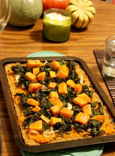 Roasted Squash Pizza with Gluten-free Cauliflower Crust