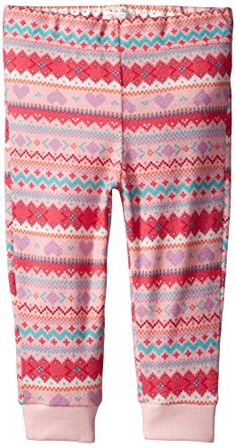 Smart Children's Place Girls White Pink Purple Blue Geometric Sweatpants 18-24 Months Baby & Toddler Clothing