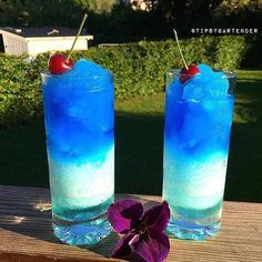 ANTARCTIC FREEZER Light Blue: 1 oz. (30 ml) Vodka 1 1/2 oz. (45 ml) Malibu Coconut Rum 1/2 oz. (15 ml) Blue Curacao 1/2 oz. (15 ml) Pineapple Juice Ice Dark Blue: 1 oz. (30 ml) Malibu Coconut Rum 1 oz. (30 ml) Blue Curacao 1/2 oz. (15 ml) Sprite A few drops of blue food coloring (optional) Ice Instagram photo credit: @mister_bartender Post your original recipe and photo on Instagram using #TipsyBartender and we will repost the best ones. Each month, the pics with most likes wins $300, 2n...