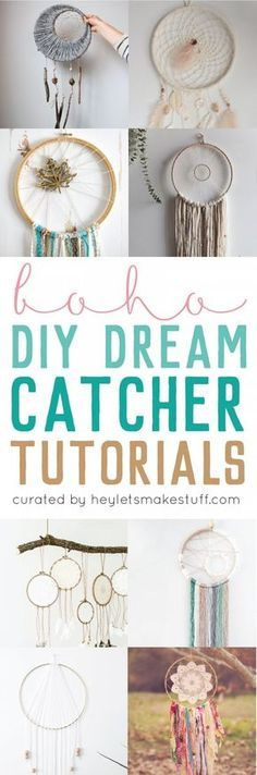 Dream catcher round up: if you love the delicate, boho style of a dream catcher, here are 10+ dream catcher tutorials for you to make your own! Dream Catcher DIY.