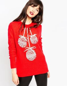 Discover women's jumpers & cardigans at ASOS. Shop from a range of jumpers, cardigans and sweaters available from ASOS. Best Ugly Christmas Sweater, Christmas Sweaters For Women, Holiday Sweaters, Jumpers For Women, Cardigans For Women, Red Outfits For Women, Holiday Tops, Christmas Jumpers, Holiday Fashion