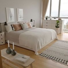 A grey, pink and white bedroom - Is To Me