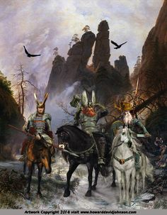 THE GIANT KILLERS.  Norse Myths and Legends: Illustrations of Norse Mythology; Mythic Norse Art by Contemporary American Artist Howard David Johnson