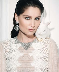 Laetitia Casta, winter white perfection.