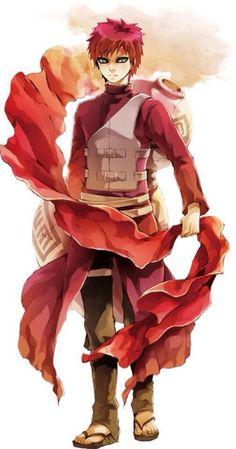 Gaara (我愛羅, Gaara), renowned as Gaara of the Sand Waterfall (砂瀑の我愛羅, Sabaku no… Naruto Gaara, Anime Naruto, Naruto Shippuden, Gara Naruto, Shikamaru, Anime Guys, Manga Anime, Art Japonais, Naruto Pictures