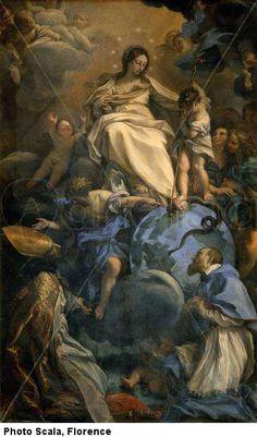 "Carlo Maratta's ""the Virgin in Glory between Saint Francis of Sales and St Thomas of Villanova"""