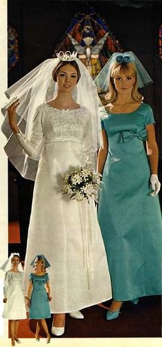 1960s Style Wedding Dresses, Wedding Dresses Photos, Long Wedding Dresses, Wedding Gowns, Bridesmaid Dresses, 1970s Wedding, Wedding Frocks, Vintage Bridal, Vintage Weddings