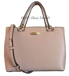 f98f72724ef8 Michael Kors Anabelle Medium Tote Blush Pink Leather Satchel Bag Purse for  sale online