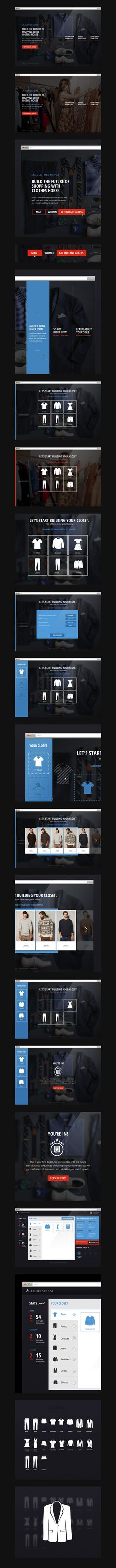 ClothesHorse 2013-11-30その五 未选中是虚线框 选中是实线框的图标按钮不错 重点在中间的图标设计