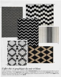 Black and white for a modern look with our Kilim in Art & Decoration magazine