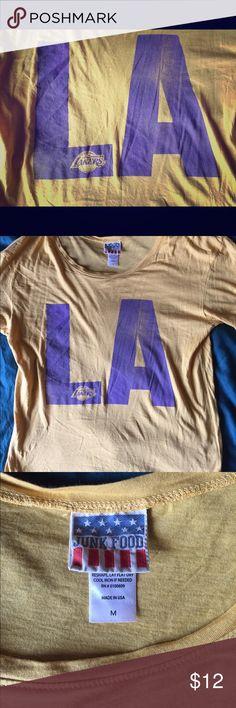 Junk Food T-shirt LA Lakers T-shirt Junk Food Tops Tees - Short Sleeve