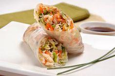 Recipe Ladies HR: pei wei's vietnamese salad rolls and sauces Vietnamese Salad Rolls, Vietnamese Chicken Salad, Vietnamese Spring Rolls, Vietnamese Recipes, Asian Recipes, Healthy Recipes, Ethnic Recipes, Vietnamese Food, Free Recipes