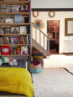 bright bohemian space child friendly books within reach woven baskets to store play child friendly furniture