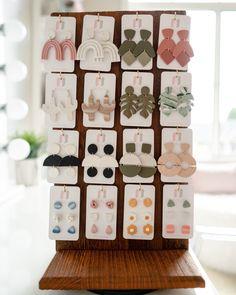 Polymer Clay Kunst, Polymer Clay Crafts, Diy Earrings Polymer Clay, Diy Cadeau Noel, Crea Fimo, Bijoux Design, Diy Crafts Jewelry, Clay Design, Paperclay