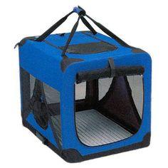 Casota dobrável e portatil com duas portas para cães e gatos