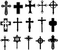 Cross symbols Hello Kitty Clipart, Paw Patrol Clipart, Cruz Tattoo, Cross Silhouette, Cross Symbol, Airbrush Tattoo, Cross Tattoo Designs, Religious Symbols, Star Tattoos