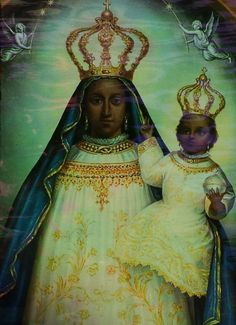 A vintage lithograph of Our Lady of Loreto.
