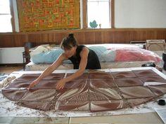 natalie blake art | Natalie Blake creating Mandala for Chabot College