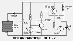 Automatic Solar Garden Light Circuit Schematic